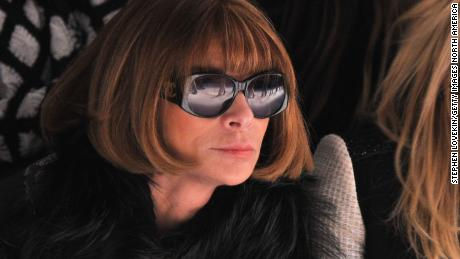 Anna Wintour attends the Vera Wang Fall 2012 fashion show in New York City.