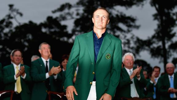When Jordan Spieth won in 2015 he equaled Tiger Woods' 1997 record for the lowest winning score at 18 under par.