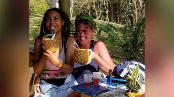 Portia Ravenelle and Cheryl Freeman spent a day together sighseeing with their partners.