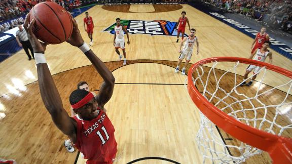 Texas Tech's Tariq Owens rises for a dunk.