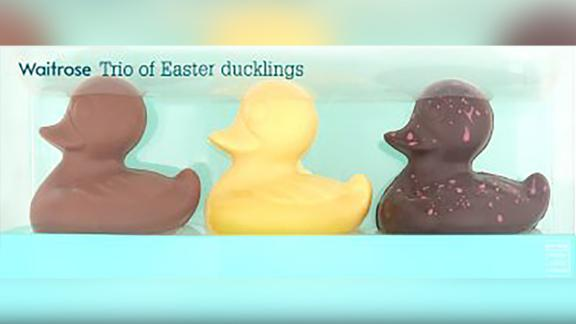 Grocery chain Waitrose has been accused of racism for labeling the dark chocolate duckling as 'Ugly' in its 'Trio of Easter ducklings' product.