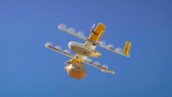 A Wing drone in flight in Australia.