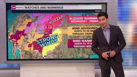 Blizzard conditions will stretch 700 miles and impact millions