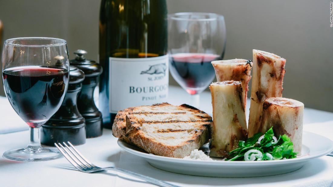 St. John restaurant in London specializes in nose to tail cooking which aims to use every part of the animal. Their most iconic dish is roast bone marrow and parsley salad, which uses veal shin bones.