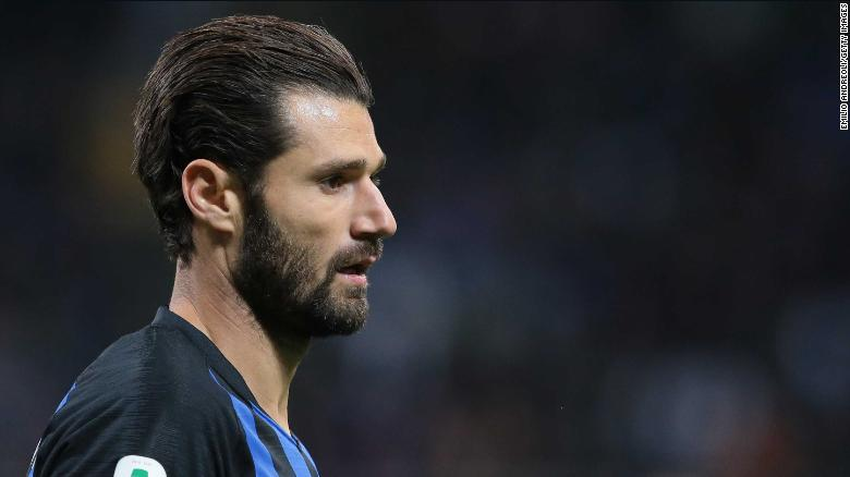 Antonio Candreva plays for Inter Milan and is also an Italian international.