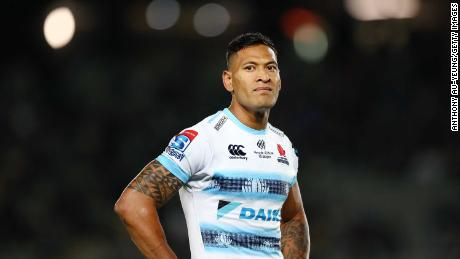 Waratahs player Folau has been criticized for posts saying gay people will go to hell.