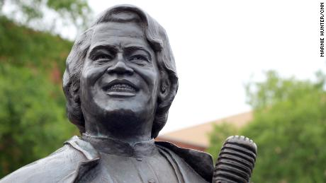 A James Brown statue stands in his hometown of Augusta, Georgia.
