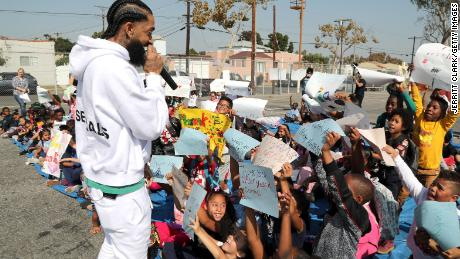 Nipsey Hussle was known for his devotion to his community.