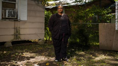 Sheryl Richard, 56, of Opelousas, Louisiana, poses for a portrait at there home on April 10, 2019. Richard is the director of vacation bible school at Greater Union Baptist Church, which burned down suspiciously on April 2, 2019. It was the second of a series of fires at three historically black churches in St. Landry Parish over the course of less than two weeks.