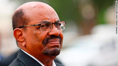 Sudan's President Omar al-Bashir looks on as he receives his Egyptian counterpart at Khartoum International Airport outside the Sudanese capital on October 25, 2018. (Photo by ASHRAF SHAZLY / AFP)        (Photo credit should read ASHRAF SHAZLY/AFP/Getty Images)