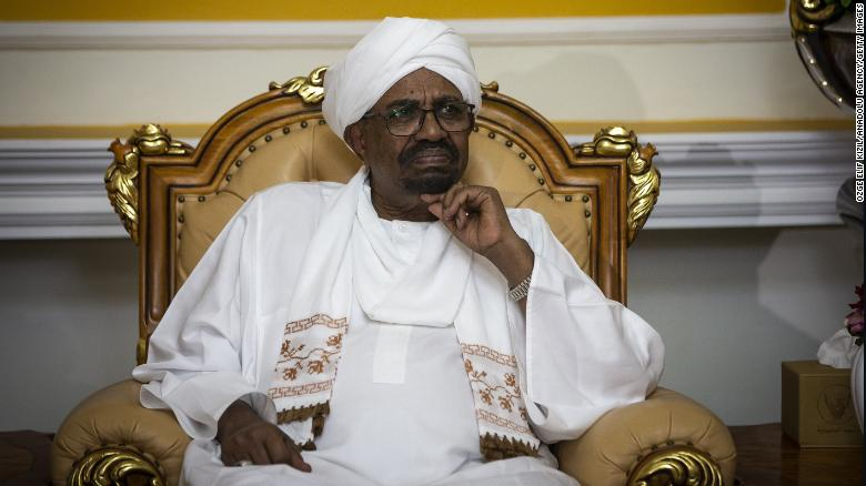 Former Sudanese President Omar al-Bashir, who has been moved to the maximum-security Kober prison, is seen in Khartoum in September 2018.