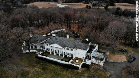 This aerial photo shows Irwin Jacobs' home in Orono, Minnesota on Wednesday, April 20, 2019.