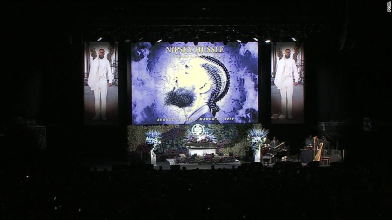 Thousands of fans attended the service, which featured performances from Anthony Hamilton and Jhene Aiko.