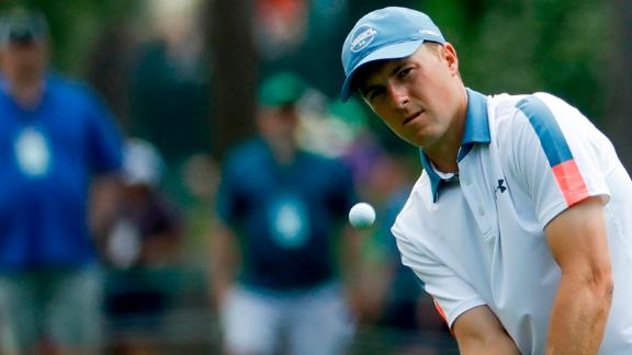 Former champion Jordan Spieth had a day to forget and ended three over.