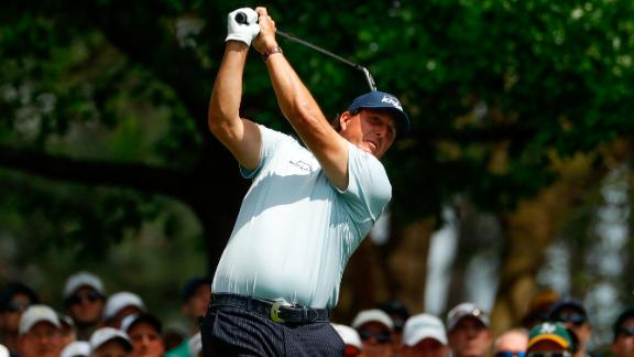 Veteran Phil Mickelson, 48, is chasing a fourth Green Jacket.