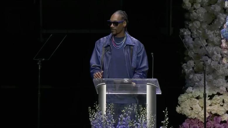 Snoop Dogg thanked Nipsey Hussle's parents for bringing him into the world.