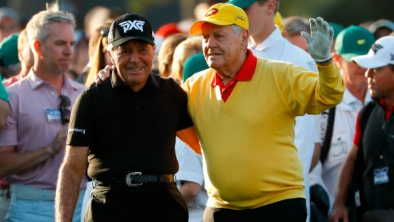 Golf legends Jack Nicklaus and Gary Player got the 83rd Masters under way as ceremonial starters Thursday.