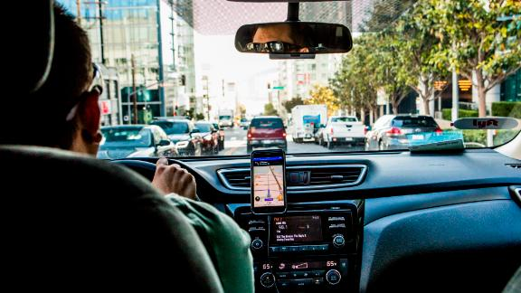FILE -- A Lyft driver in San Francisco, June 14, 2017. Lobbyists for clients like Uber and Handy are pressing legislatures, and sometimes working around them, to keep workers from being deemed employees. Ride-sharing companies like Lyft argue that their drivers should be considered contractors because they decide when, where and how long the work. (Christie Hemm Klok/The New York Times)