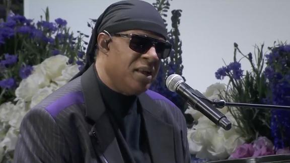 """Stevie Wonder performs a Nipsey favorite, """"Rocket Love."""""""