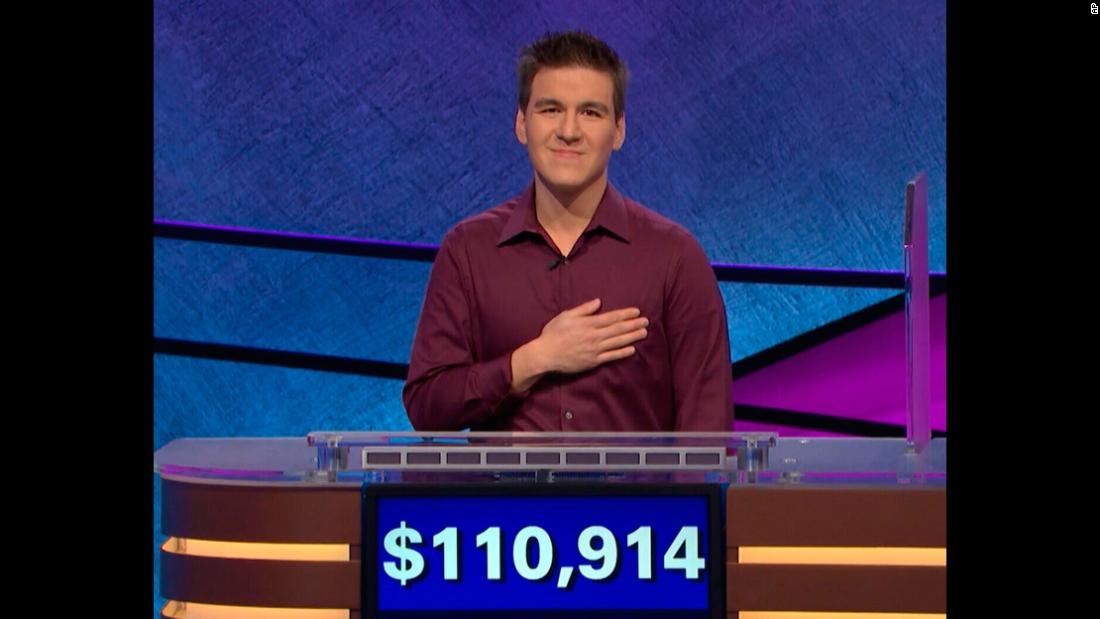 "James Holzhauer, a 34-year-old professional sports gambler from Las Vegas, broke the ""Jeopardy!"" record for most winnings in a single day. He made $110,914 on the episode that aired Tuesday, April 9."