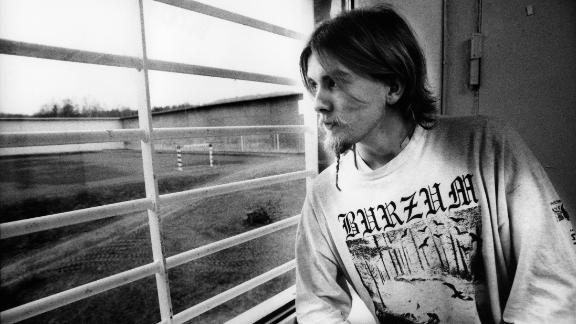 Former member of Mayhem Varg Vikernes is photographed in his prison cell in Norway.