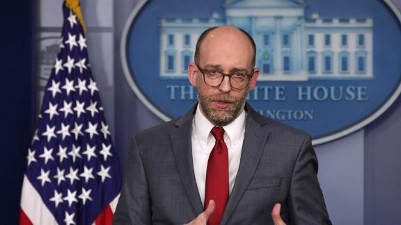Acting Director of Office of Management and Budget Russell Vought speaks during a news briefing at the White House on March 11, 2019.