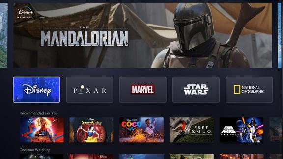 The Disney+ home screen