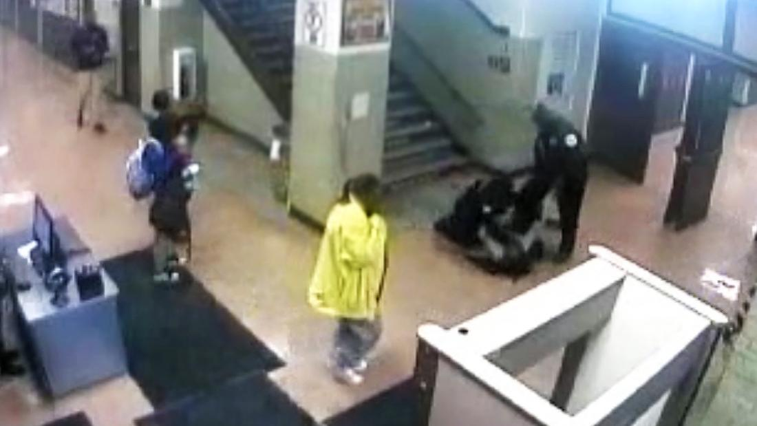 Video shows Chicago officers punching and dragging a 16-year-old girl down the stairs