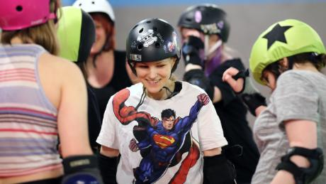 """Roller derby is still underground in Moscow. No one knows what it is and what we do,"" says Ksusha."