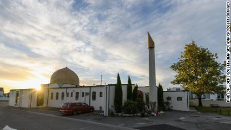 General view of Al Noor Mosque prior to the sunset prayer on April 4, 2019 in Christchurch, New Zealand.