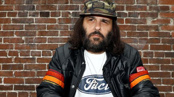 "Erik Brunetti, Los Angeles artist and streetwear designer of the clothing brand FUCT, sits for a portrait in Los Angeles, California, U.S., April 7, 2019. The Supreme Court will hear the U.S. Patent and Trademark Office's appeal of a lower court decision that the agency should have allowed Brunetti to trademark the ""FUCT"" brand name. Picture taken April 7, 2019.  REUTERS/Patrick T. Fallon"