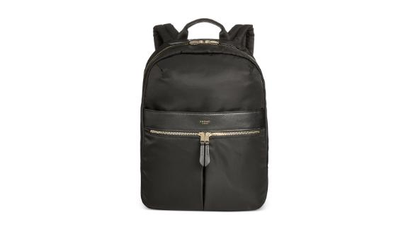 """<strong>Knomo London Nylon Laptop Backpack ($179; </strong><a href=""""https://click.linksynergy.com/deeplink?id=Fr/49/7rhGg&mid=3184&u1=0409workbags&murl=https%3A%2F%2Fwww.macys.com%2Fshop%2Fproduct%2Fknomo-london-nylon-laptop-backpack%3FID%3D4232491%26pla_country%3DUS%26CAGPSPN%3Dpla%26CAWELAID%3D120156340010419389%26CAAGID%3D68178127651%26CATCI%3Daud-374536321189%3Apla-572824247494%26cm_mmc%3DGoogle_SH_PLA_Luggage-_-GS_Luggage_PLA_Knomo_London-_-314000398032-_-pg1050994581_c_kclickid_fb3db7ec-96e3-480d-a075-ac1732233629_KID_EMPTY_1546922777_68178127651_314000398032_aud-374536321189%3Apla-572824247494_5055385417771USA__c_KID_%26trackingid%3D509x1050994581%26m_sc%3Dsem%26m_sb%3DGoogle%26m_tp%3DPLA%26m_ac%3DGoogle_SH_PLA_Luggage%26m_ag%3DKnomoLondon%26m_cn%3DGS_Luggage_PLA%26m_pi%3Dgo_cmp-1546922777_adg-68178127651_ad-314000398032_aud-374536321189%3Apla-572824247494_dev-c_ext-_prd-5055385417771USA%26gclid%3DCjwKCAjwhbHlBRAMEiwAoDA342ig1JOw9z-aCw8g845hEl5EouKKFgmf7i49wAPtygnSnJCFaxomFhoCAukQAvD_BwE"""" target=""""_blank"""" target=""""_blank""""><strong>macys.com</strong></a><strong>)</strong><br /><br />If you're more of a backpack type, Knomo's got your back with this classic nylon laptop backpack. It stays sleek and slim no matter what you put inside, it can withstand whatever weather, and it's got your gadgets covered in its organized compartments. Best part is, you can register a unique Knomo ID code to help you find your bag if it ever gets lost!"""