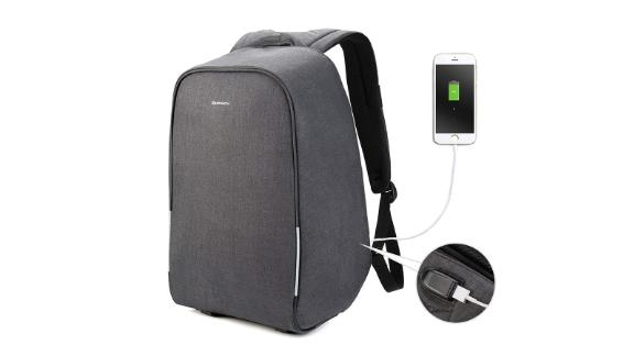 """<strong>Kopack 15.6-Inch Anti-Theft Laptop Backpack ($45.99, originally $55.99; </strong><a href=""""https://amzn.to/2UItlDp"""" target=""""_blank"""" target=""""_blank""""><strong>amazon.com</strong></a><strong>)</strong><br /><br />This best-selling smart backpack on Amazon is the ultimate definition of a work bag that works for you. It has no visible zippers or pockets on the front, making it frustrating to would-be thieves. It's water-resistant and has a built-in rain cover you can pull out when it pours, and it even has an external USB port so you can easily charge your devices without having to take out your power bank.<br />"""