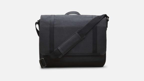"""<strong>Kenneth Cole Work Ready Laptop Messenger Bag in Cotton Canvas ($160; </strong><a href=""""http://www.anrdoezrs.net/links/8314883/type/dlg/sid/0409workbags/https://www.kennethcole.com/men/bags/messengers/work-ready-laptop-messenger-bag-in-cotton-canvas-023572519046.html"""" target=""""_blank"""" target=""""_blank""""><strong>kennethcole.com</strong></a><strong>)</strong><br /><br />If you're looking for a work bag that's not leather but still looks classic, definitely check out this cotton canvas messenger bag by Kenneth Cole. It has a tear-resistant woven lining and is a timeless bag designed to last."""