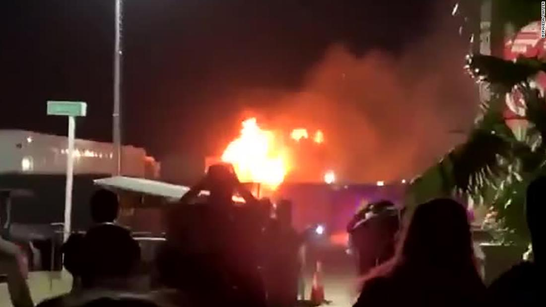 Fire breaks out on first night of the Coachella music festival in California