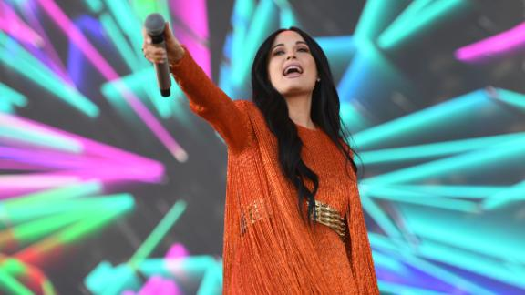 Singer/songwriter Kacey Musgraves performs on stage at Coachella Music Festival on April 12, 2019 in Indio, California.