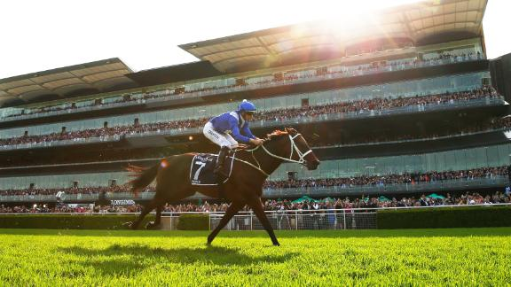 Winx racked up a 33rd straight win and a third consecutive Queen Elizabeth stakes in the final race of a remarkable career.