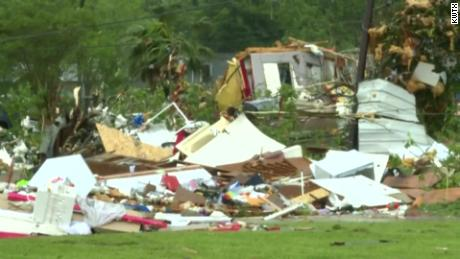 See the damage from tornado in Texas