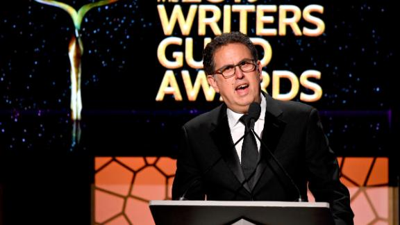 BEVERLY HILLS, CALIFORNIA - FEBRUARY 17: WGA West President David Goodman speaks onstage during the 2019 Writers Guild Awards L.A. Ceremony at The Beverly Hilton Hotel on February 17, 2019 in Beverly Hills, California. (Photo by Frazer Harrison/Getty Images)
