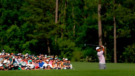 Woods was two shots back and within touching distance of a fifth Green Jacket and 15th major title.