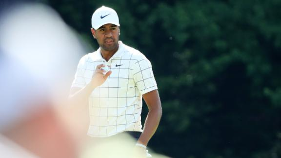 Tony Finau dislocated his ankle in the par-3 contest ahead of the 2018 Masters.