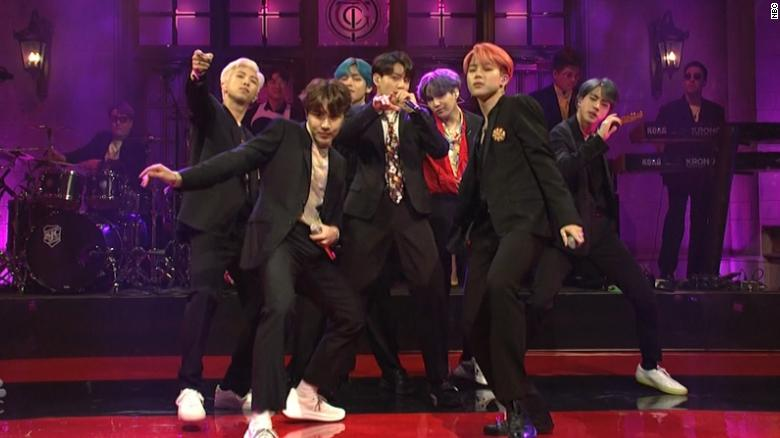 K-pop group BTS takes over 'SNL'