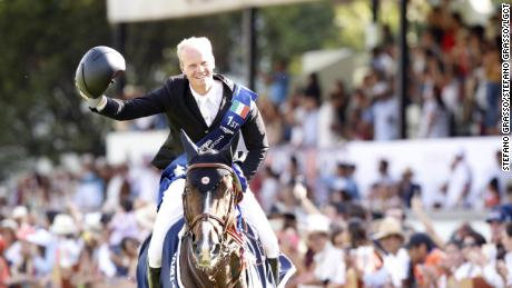 Jerome Guery  and Quel Homme de Hus celebrate their first LGCT victory.