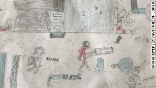 Drawings by children show the psychological impact of Cyclone Idai