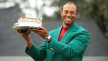 Tiger Woods clinched his fifth Masters and 15th major title with victory at Augusta in April.