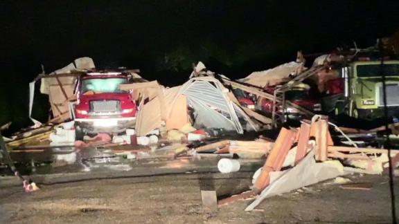 A tornado destroyed the Hamilton, Mississippi, Volunteer Fire Department on Saturday.