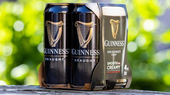 Diageo will now use carboard instead of pastic in beer packs.