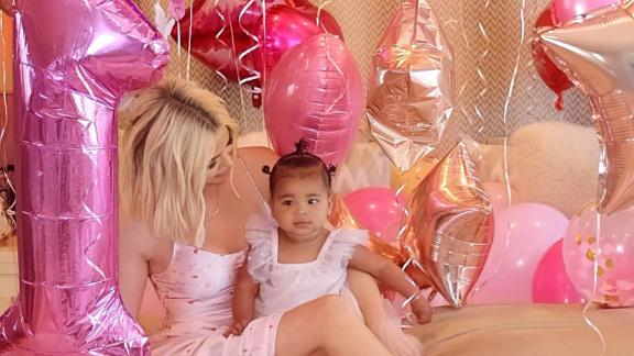 Khloe Kardashian celebrated daughter True Thompson's first birthday in April.