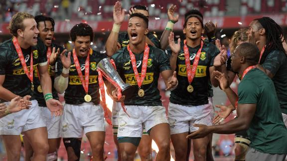 South Africa recorded a remarkable comeback in Singapore to defeat Fiji 20-19 having trailed 19-0 in the final.
