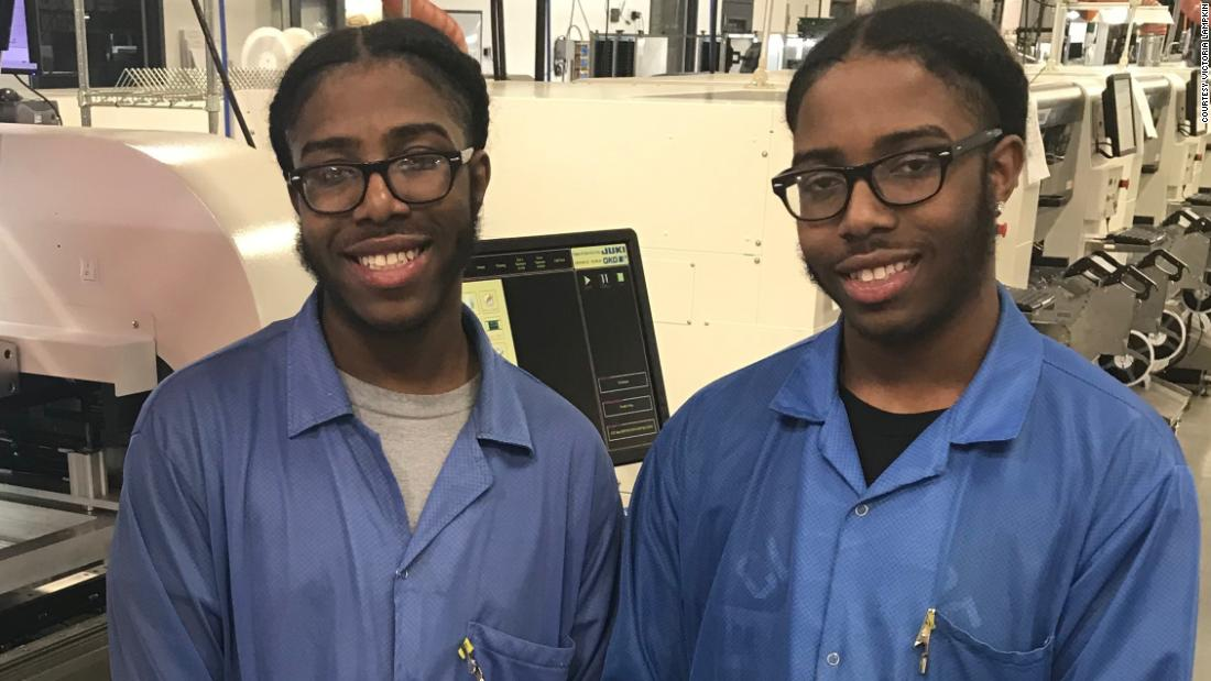 He's valedictorian of his high school class. The salutatorian? His identical twin